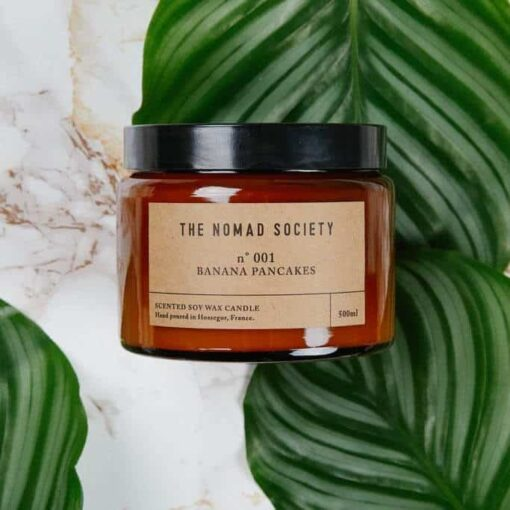 Banana Pancakes Scented Candle by The Nomad Society 1