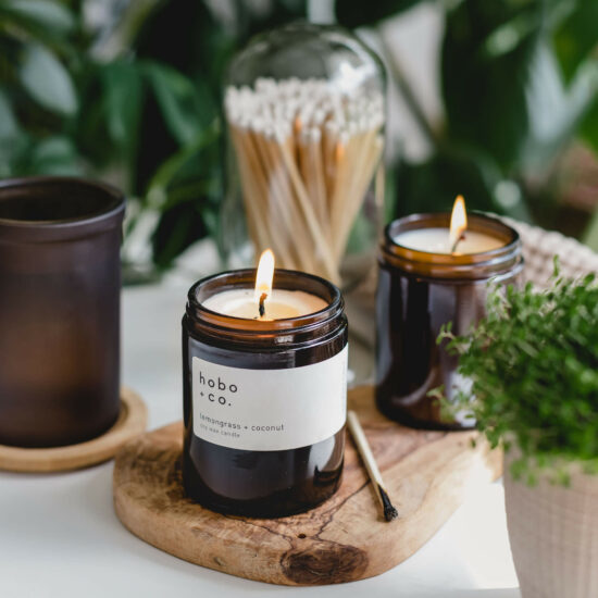 Lemongrass & Coconut Candle by Hobo & Co