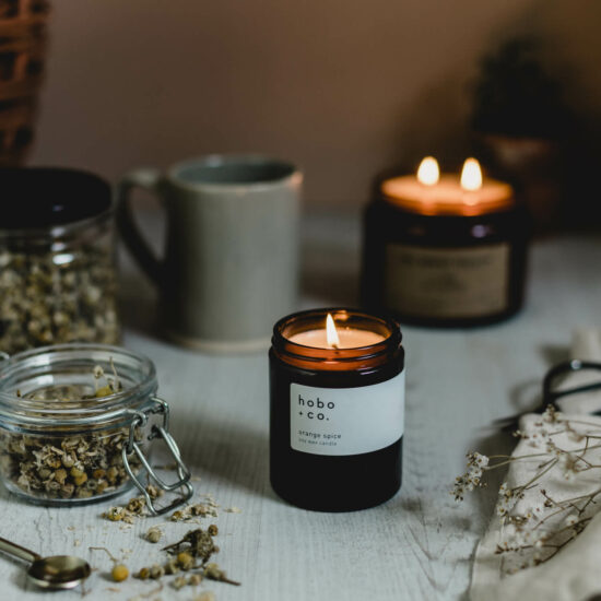 Orange Spice Scented Candle by Hobo & Co.