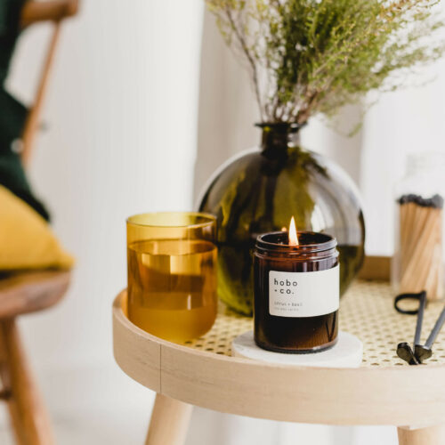 Citrus & Basil Scented Candle by Hobo & Co.