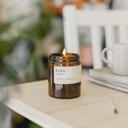 Raspberry & Peppercorn Candle by Hobo & Co.
