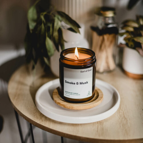 Smoke & Musk Scented Candle by Earl of East
