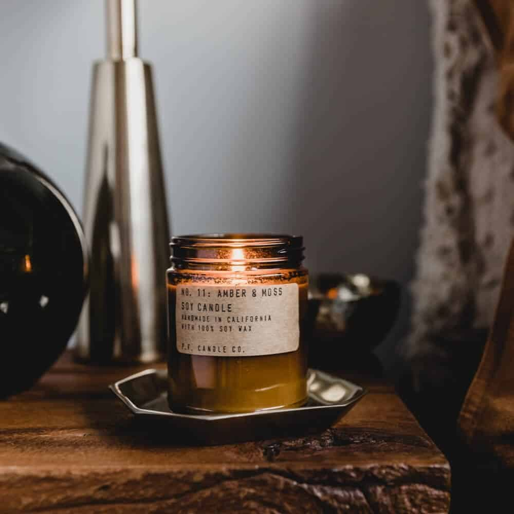 No.11 Amber & Moss Scented Candle by P.F. Candle Co
