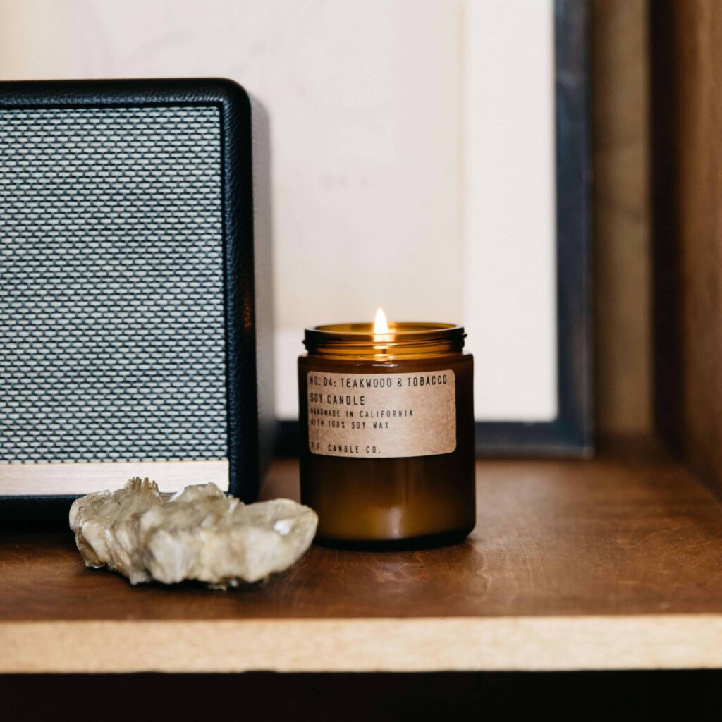 No.04 Teakwood & Tobacco Scented Candle by P.F. Candle Co