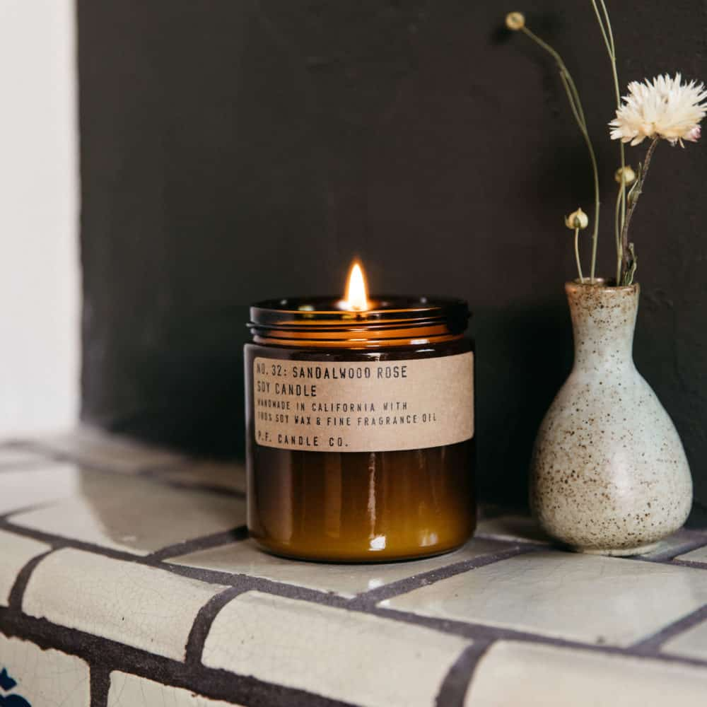 No.32 Sandalwood Rose Scented Candle by P.F. Candle Co