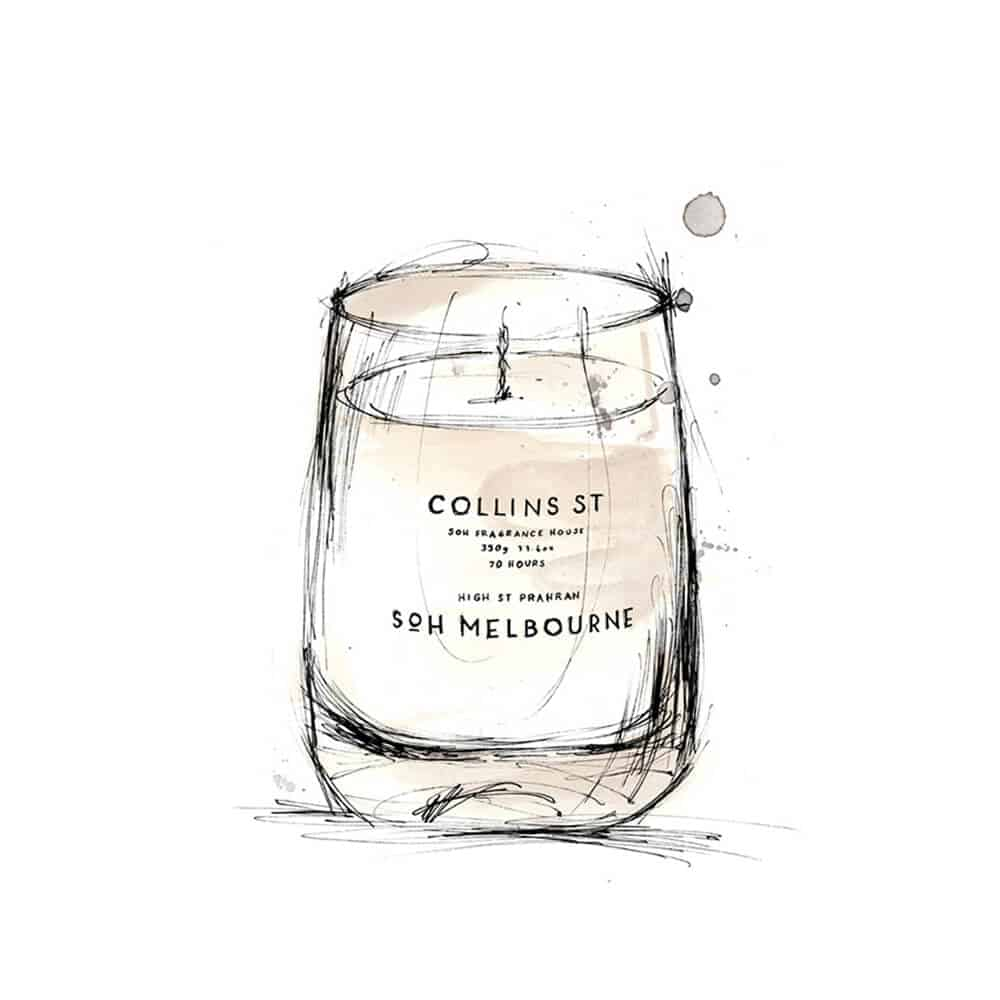 Collins St Scented Candle by SOH Melbourne