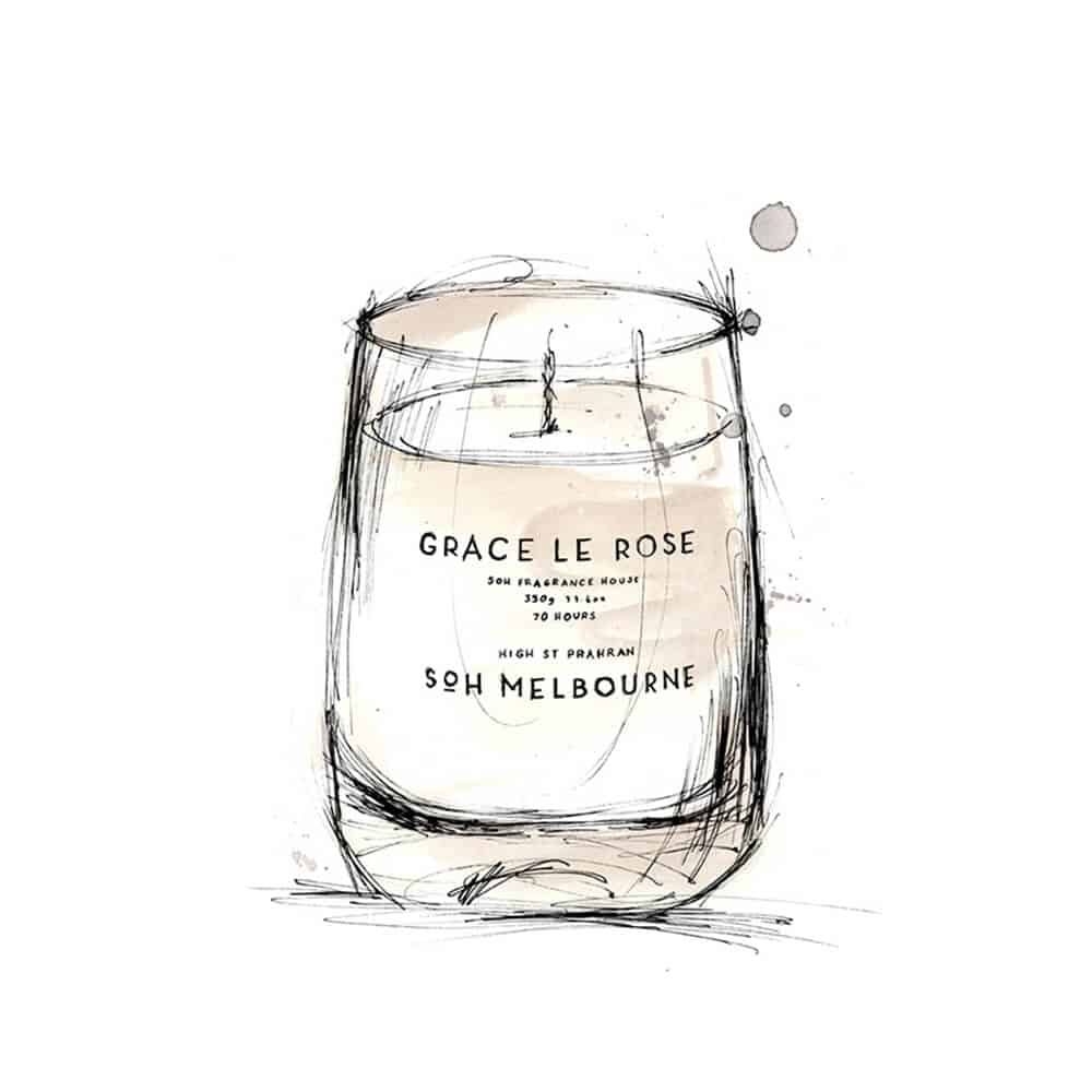 Grace Le Rose Scented Candle by SOH Melbourne
