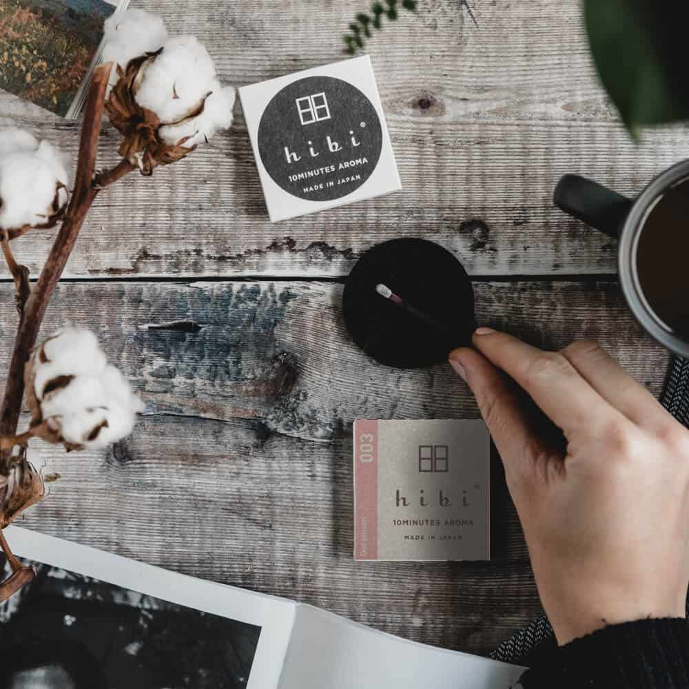 Geranium Incense Matches by Hibi