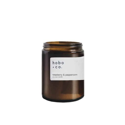 Raspberry & Peppercorn Scented Candle by Hobo & Co.