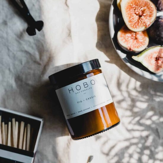 Fig & Cassis Scented Candle by Hobo & Co.