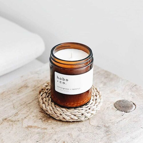 Lemongrass & Coconut Scented Candle by Hobo & Co.