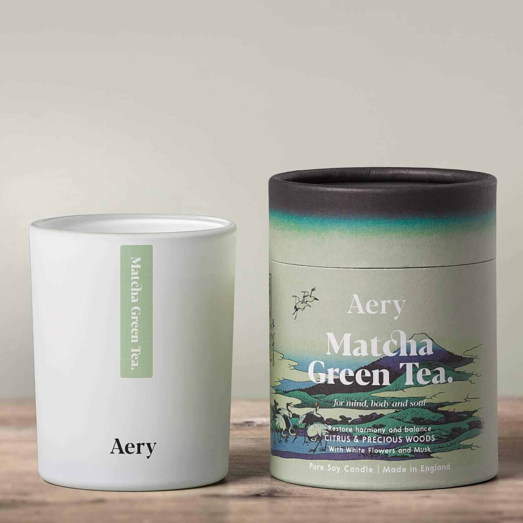 Matcha Green Tea Scented Candle by Aery