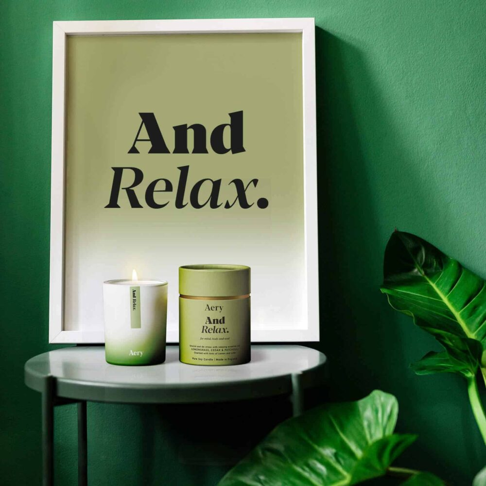 And Relax Scented Candle by Aery