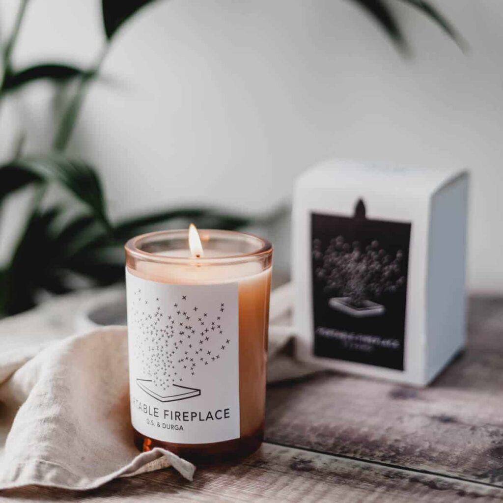 Portable Fireplace Scented Candle by D.S. & DURGA