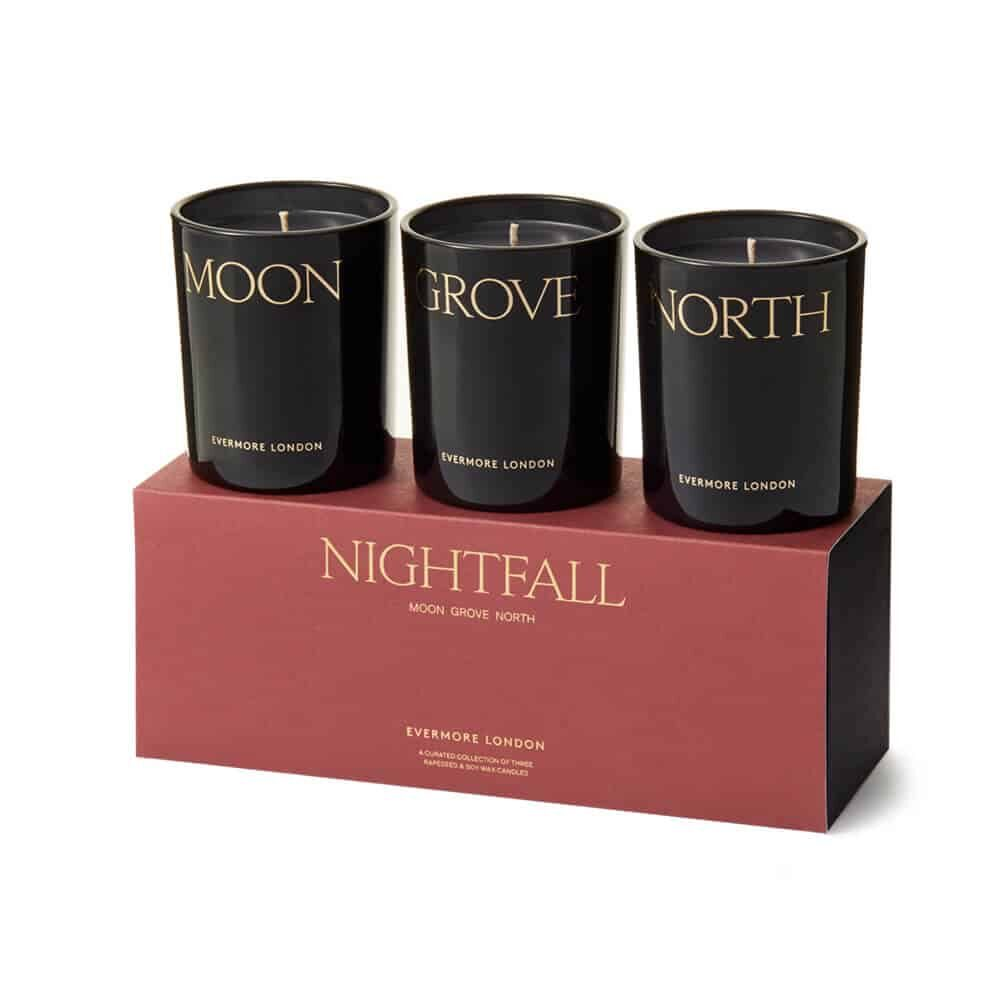 Nightfall Scented Candle Gift Set by Evermore