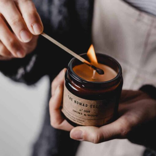 Smoke & Wood Scented Candle by The Nomad Society