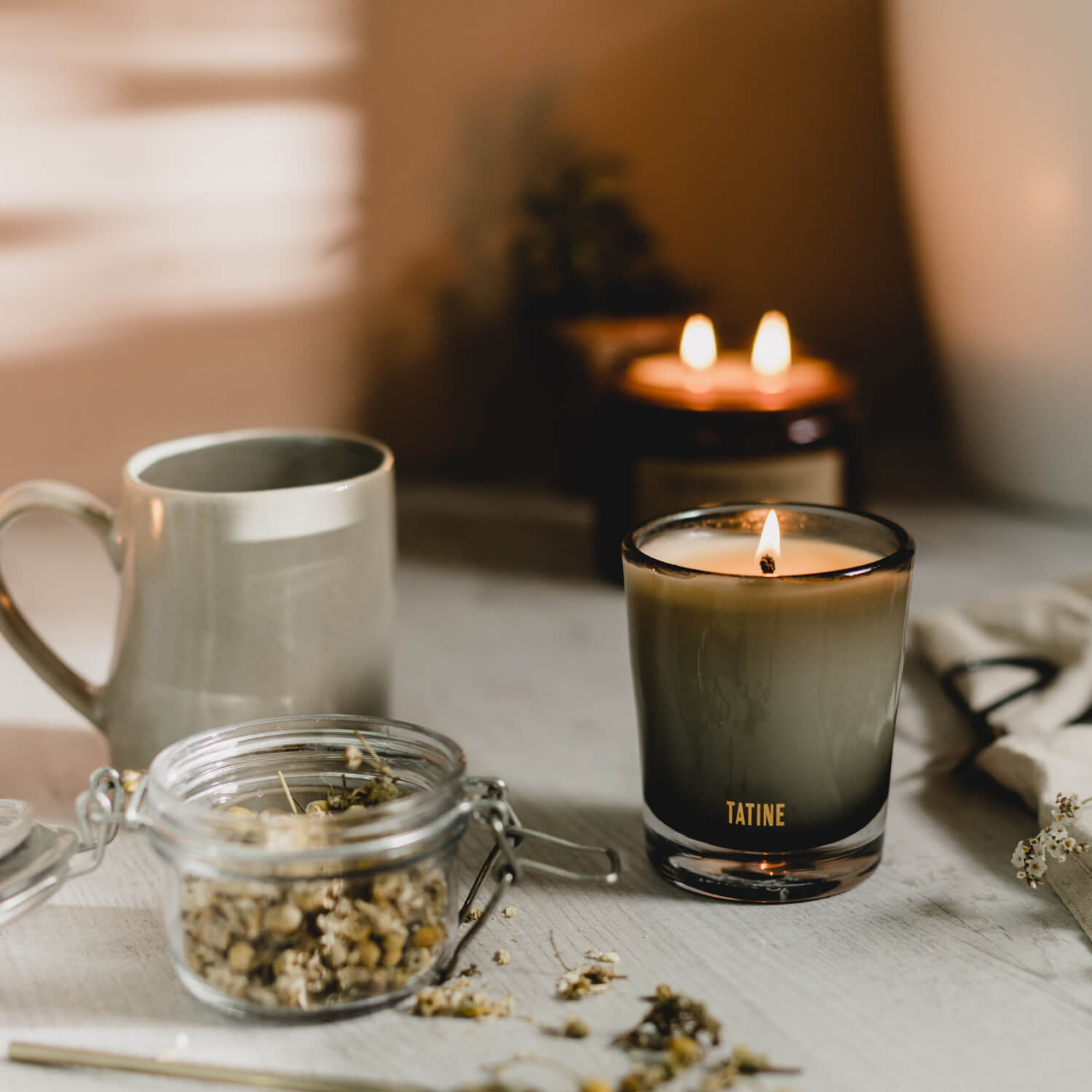 Temple of Leaves Scented Candle by Tatine