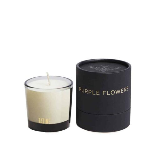 Purple Flowers Scented Candle by Tatine
