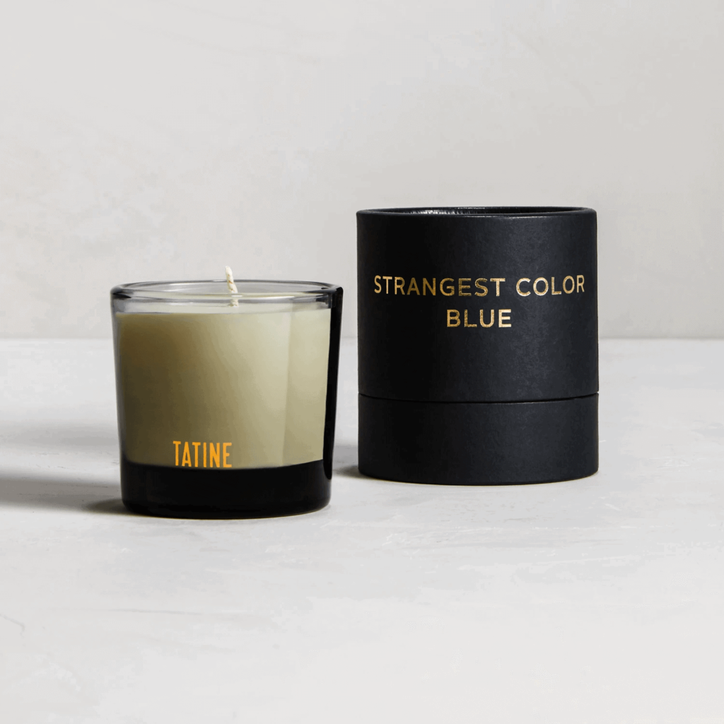 Strangest Colour Blue Scented Candle by Tatine