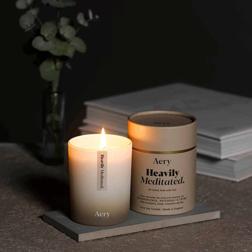 Heavily Meditated Scented Candle by Aery