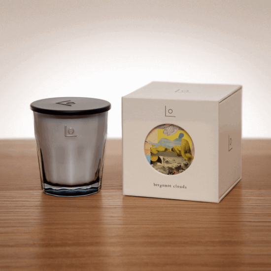 Bergamot Clouds Scented Candle by LO Studio