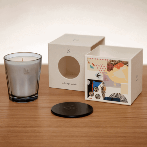 Unkempt Geisha Scented Candle by LO Studio