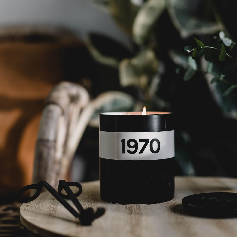 1970 Black Ceramic Candle by Bella Freud