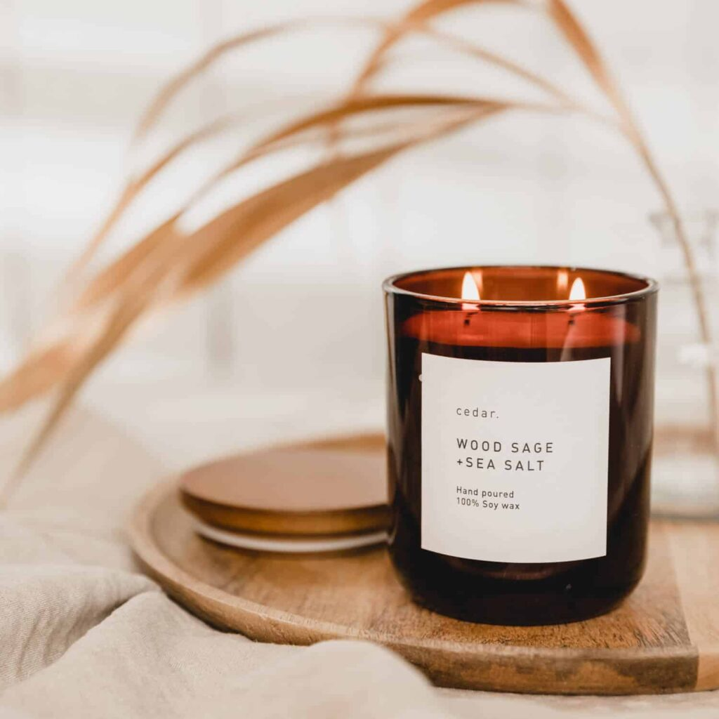 Wood Sage + Sea Salt Candle by Cedar