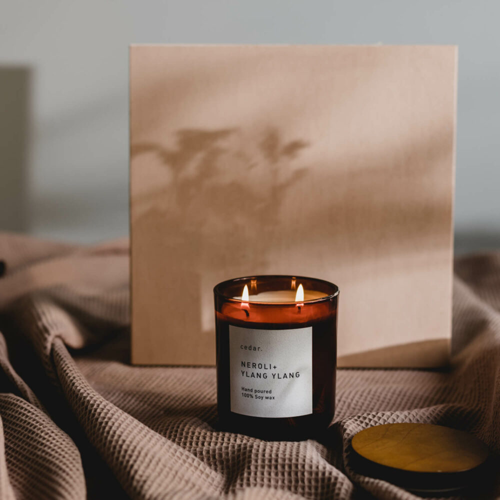 Neroli + Ylang Ylang Scented Candle by Cedar