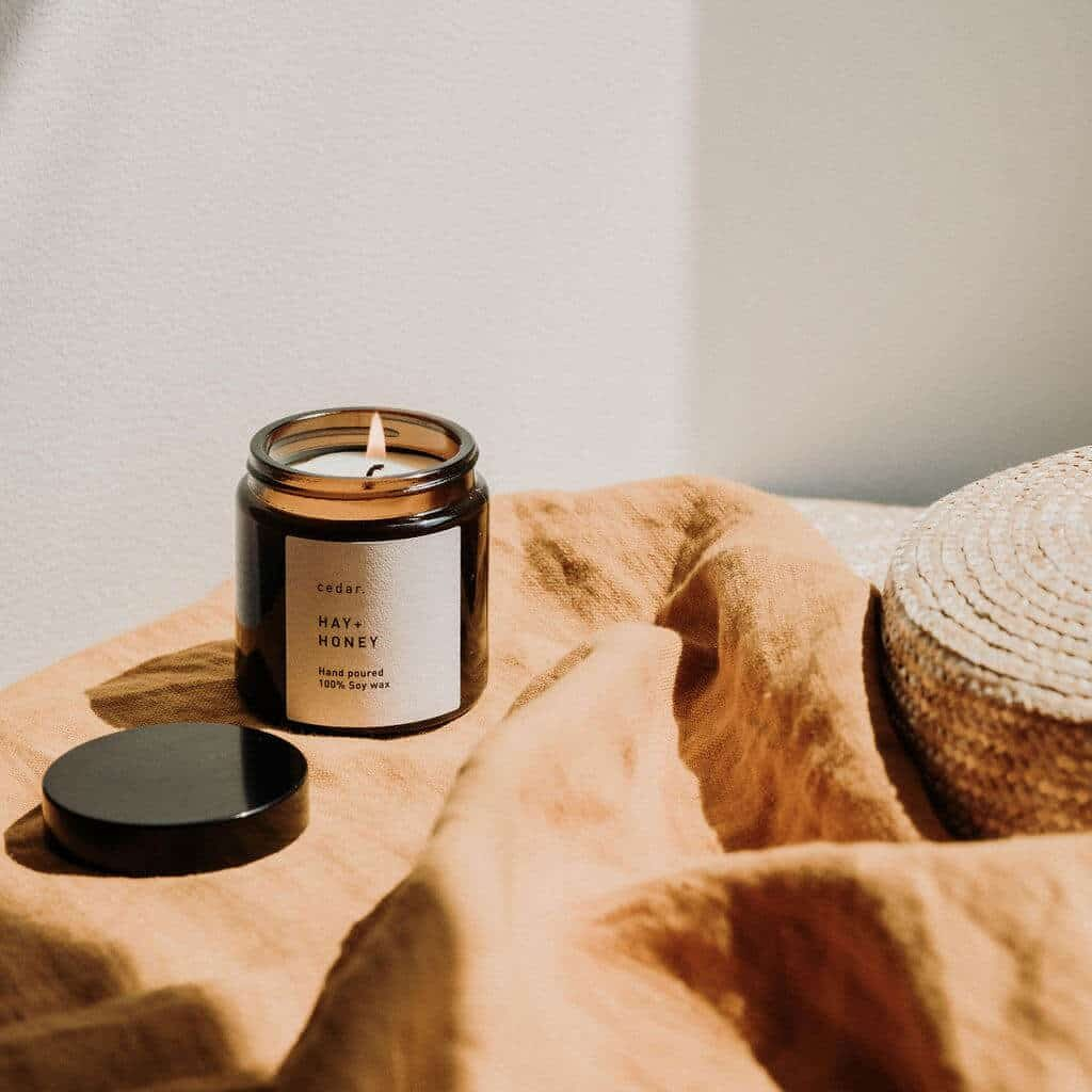 Hay + Honey Scented Candle by Cedar