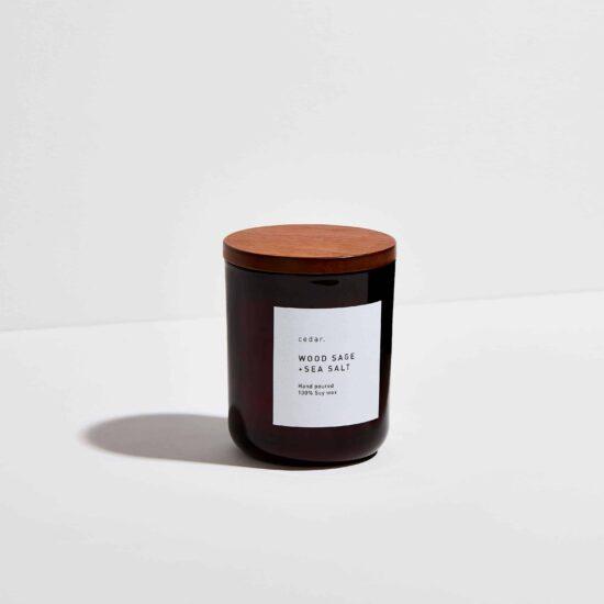 Wood Sage + Sea Salt Scented Candle by Cedar