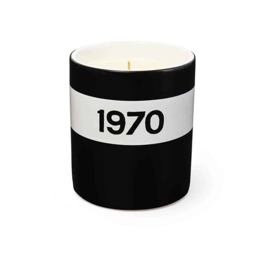 1970 Black Ceramic Candle by Bella Freud
