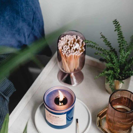 Blush Glass Matches Cloche by Skeem