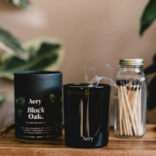 Black Oak Scented Candle by Aery