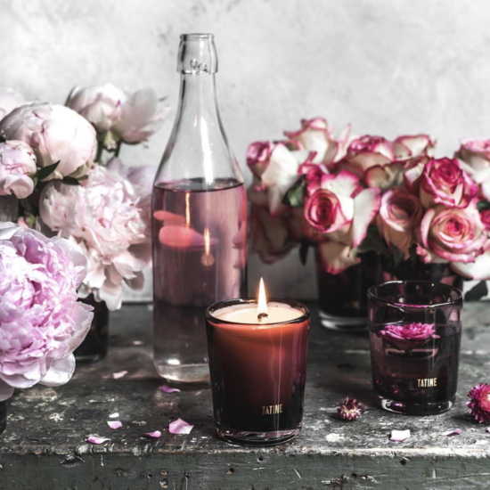 Peace Rose Scented Candle by Tatine