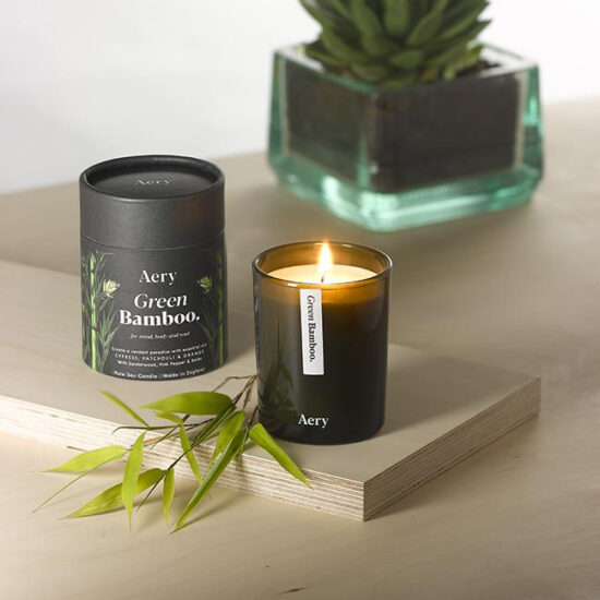 Green Bamboo Scented Candle by Aery