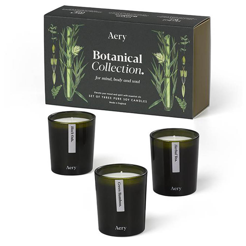 Green Botanical Scented Candle Gift Set by Aery