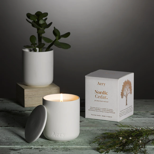 Nordic Cedar Scented Candle by Aery