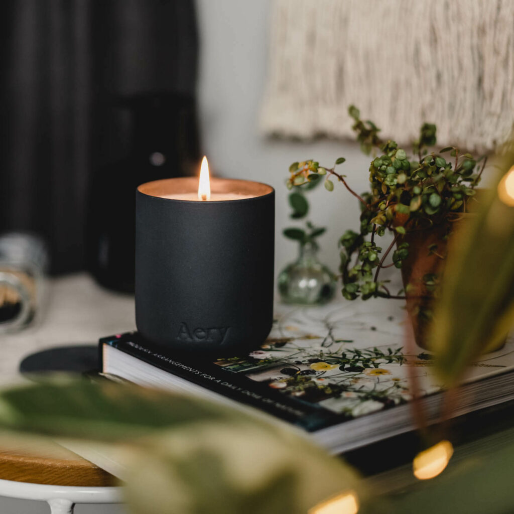 Indian Sandalwood Scented Candle by Aery