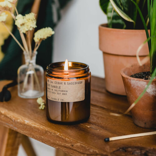Cedar & Sagebrush Scented Candle by P.F. Candle Co.