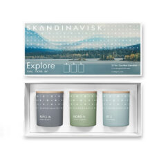 EXPLORE Scented Candle Gift Set by Skandinavisk