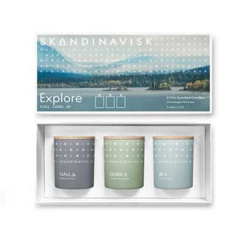EXPLORE Scented Candle Gift Set by Skandinavisk