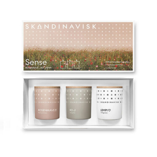 SENSE Scented Candle Gift Set by Skandinavisk