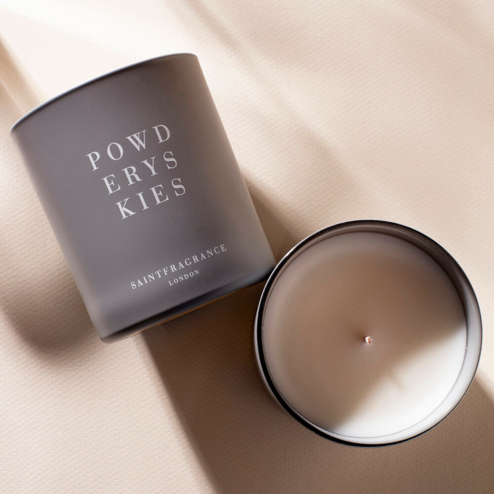 Powdery Skies Scented Candle by Saint Fragrance