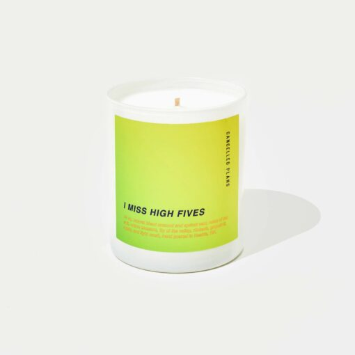 I Miss High Fives Scented Candle by Cancelled Plans