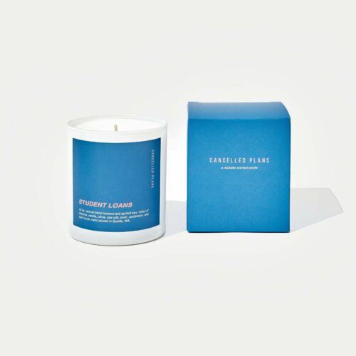 Student Loans Scented Candle by Cancelled Plans