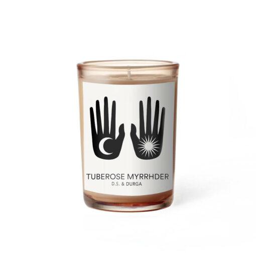 Tuberose Myrrhder Scented Candle by D.S. & DURGA