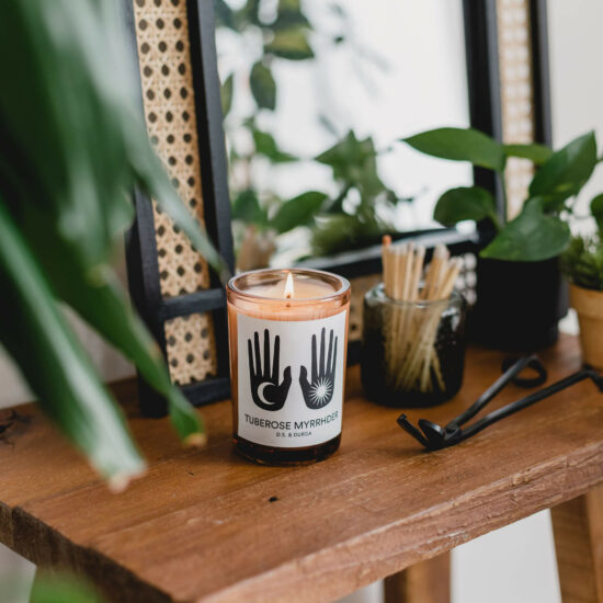 Tuberose Myrrhder Candle by D.S. & Durga