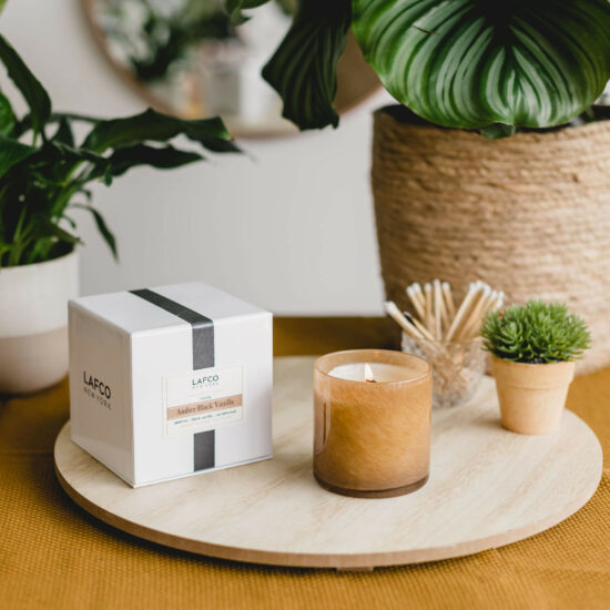 Amber Black Vanilla Scented Candle by LAFCO