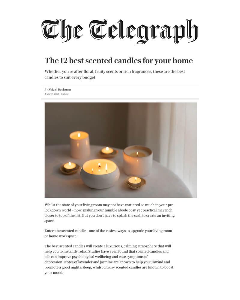 Telegraph March 2021 Osmology